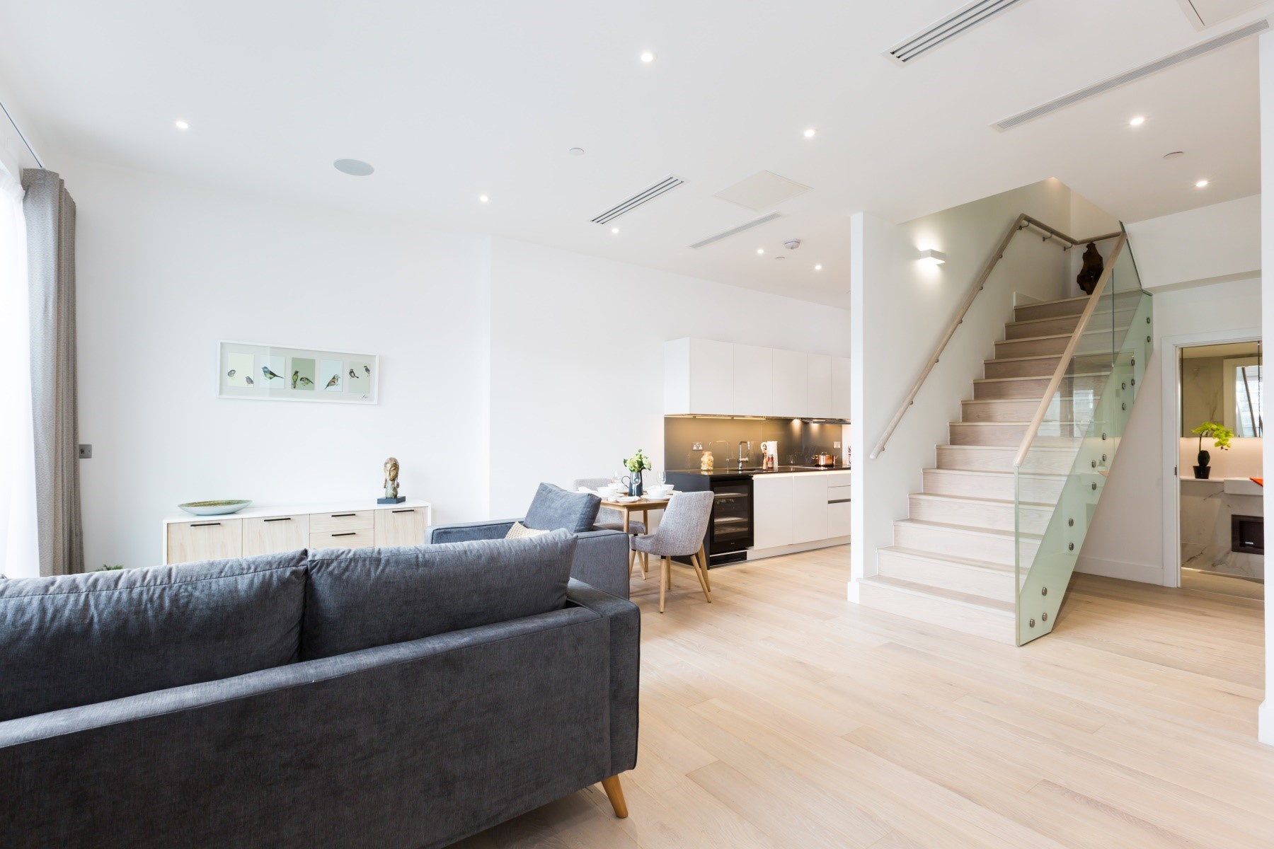 Living Area 2 Bedroom Apartment | Fulham Riverside | MyLo London