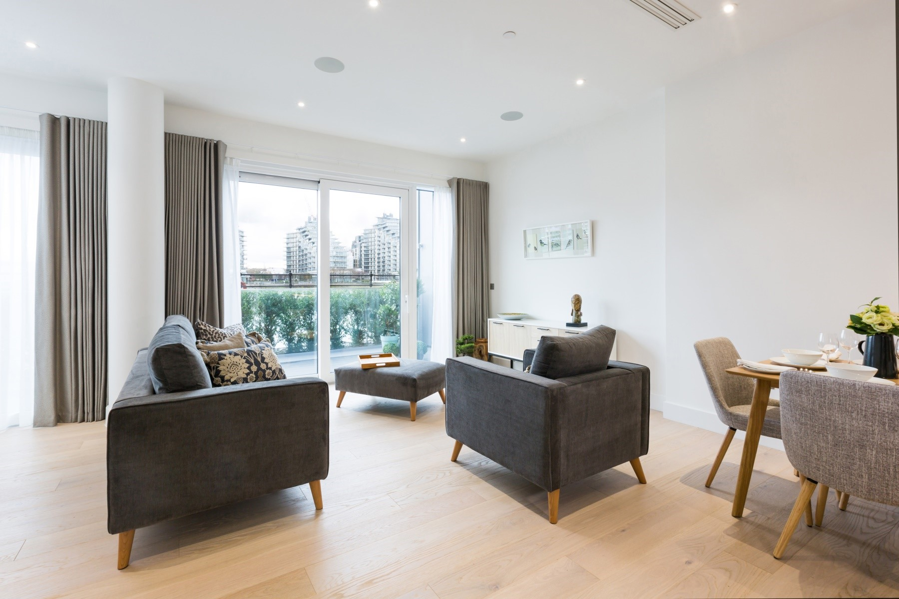 Lounge Area 2 Bedroom Apartment | Fulham Riverside | MyLo London