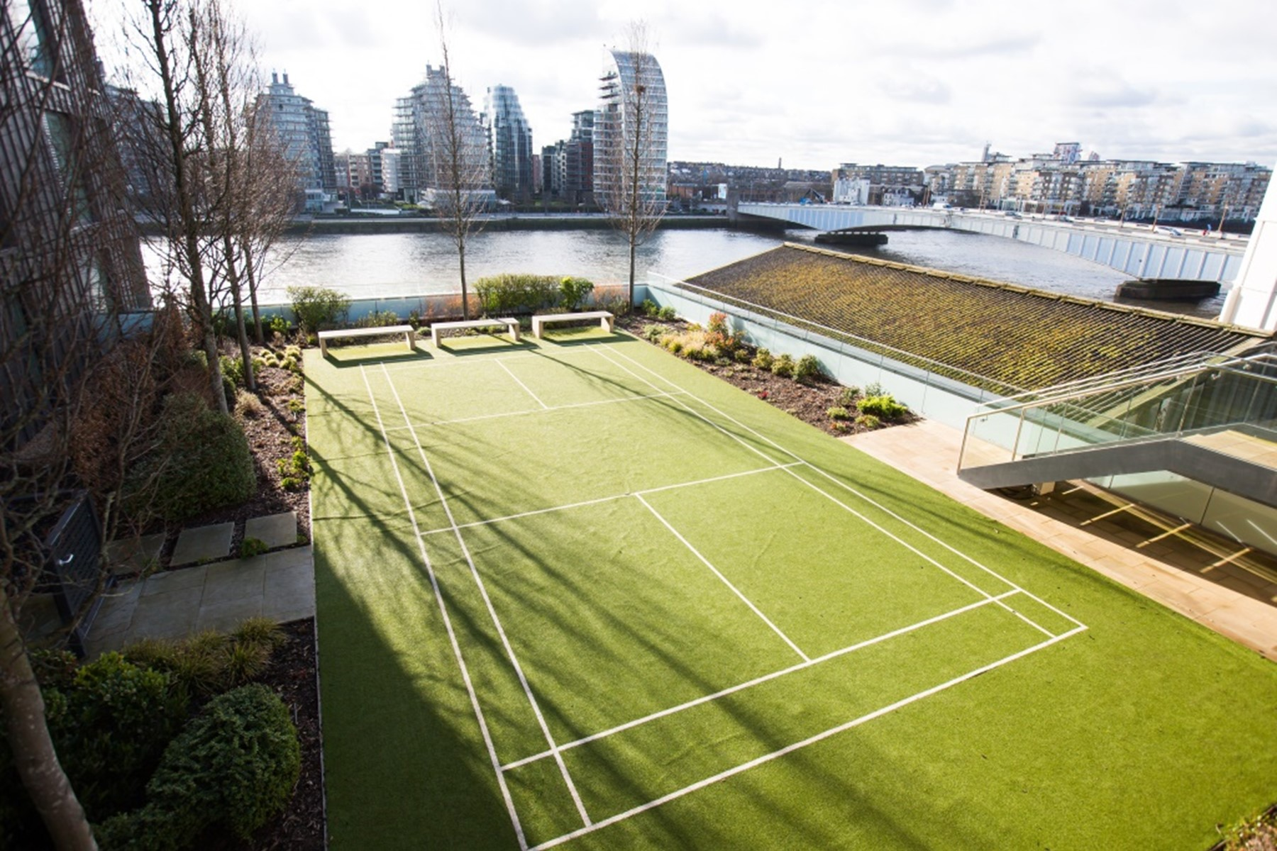 Onsite Tennis Court | Fulham Riverside | MyLo London