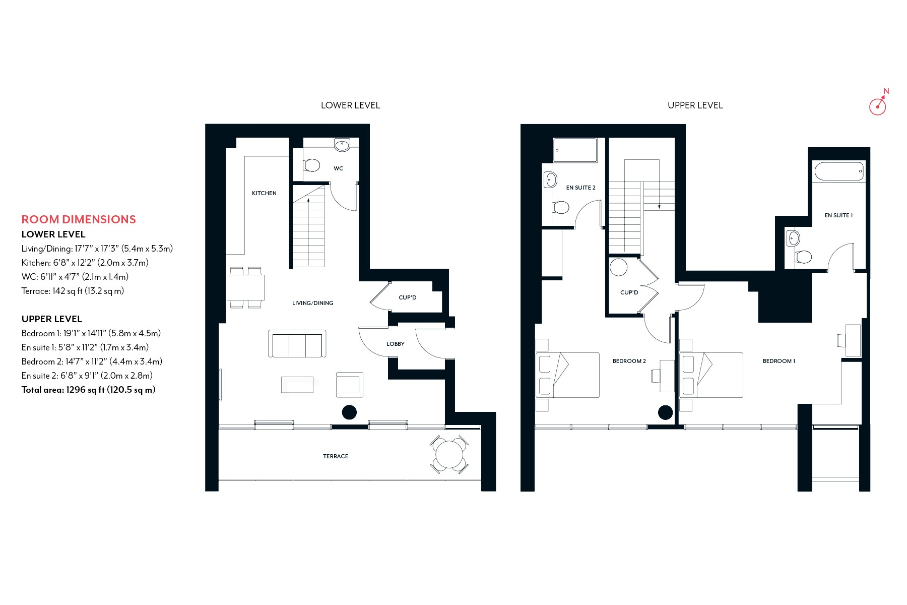2 Bedroom Apartment Floorplan | Fulham Riverside | MyLo London