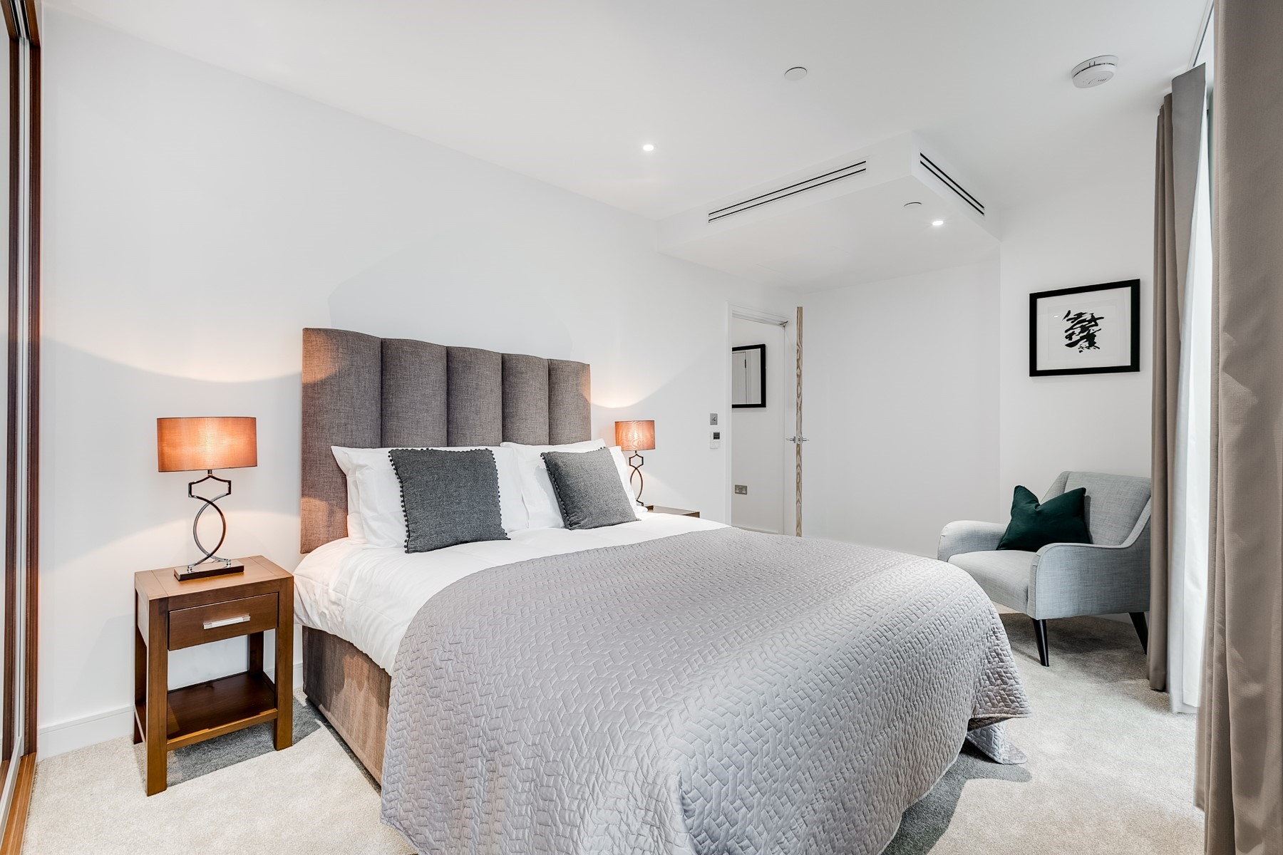 Bedroom, One Bedroom Apartment | Nine Elms Point | MyLo London