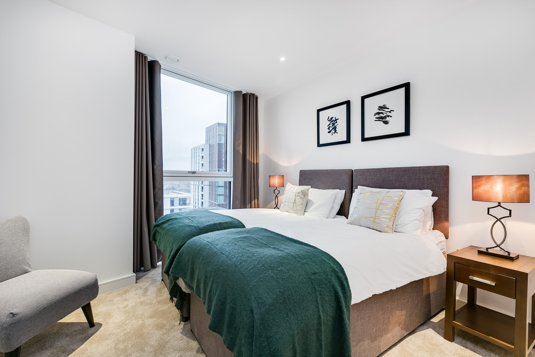 Bedroom, 2 Bedroom Apartment | Nine Elms Point | MyLo London
