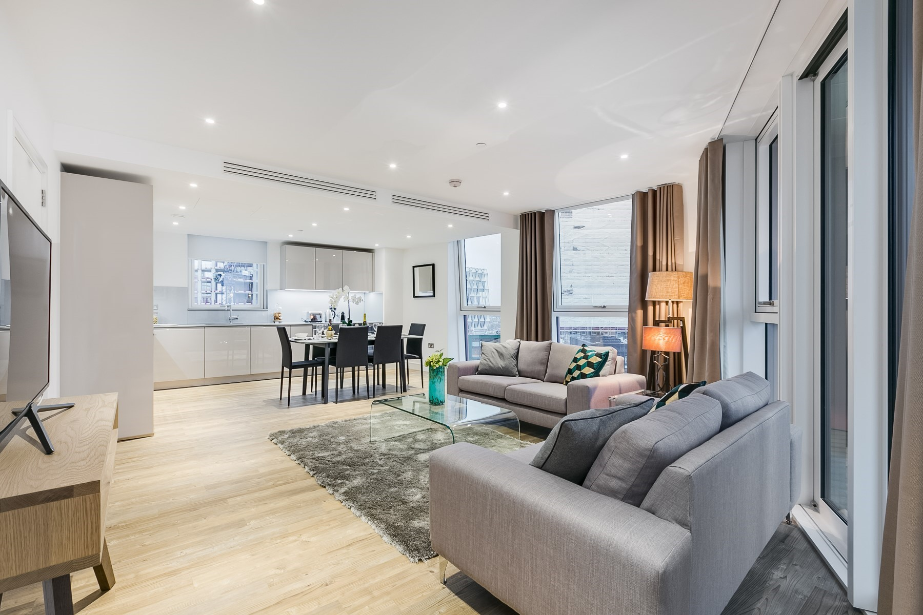 Open Plan Living Area 2 Bedroom Apartment | Nine Elms Point | MyLo London