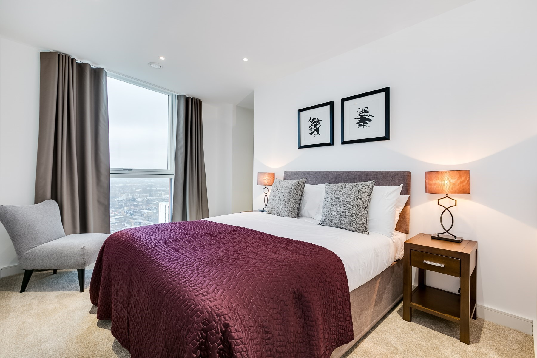 Bedroom 2, 3 Bedroom Apartment | Nine Elms Point | MyLo London
