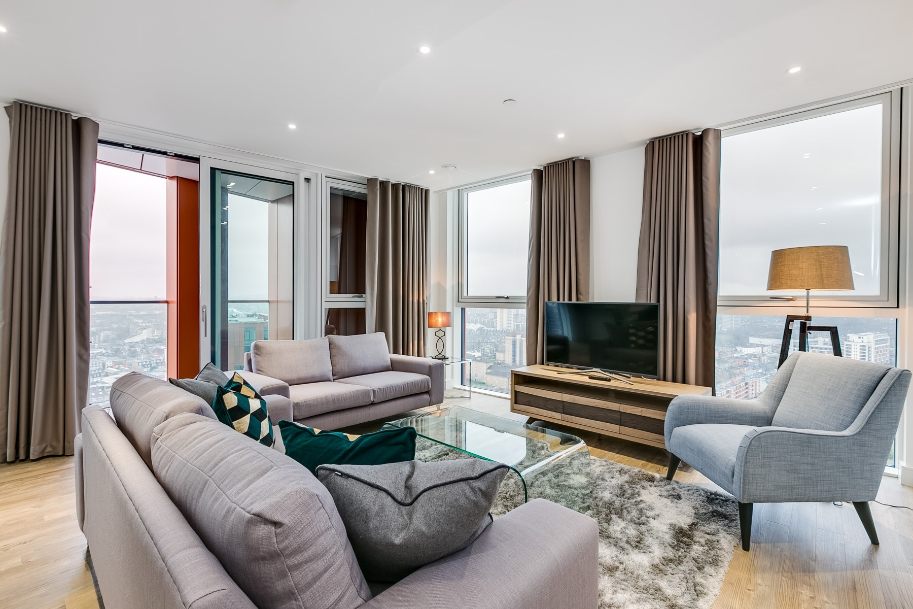 Lounge Area, 3 Bedroom apartment | Nine Elms Point | MyLo London